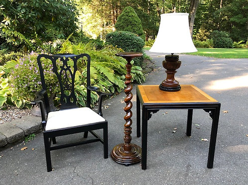Grouping Of Furniture and Chinese Wooden Lamp.
