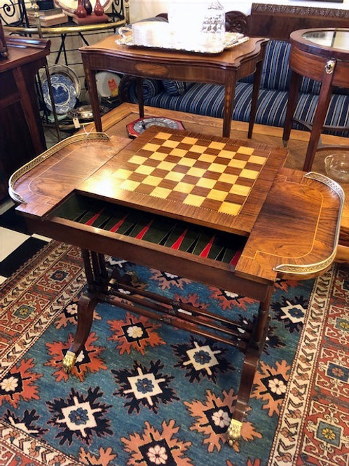 Vintage Mahogany Inlaid Game Table