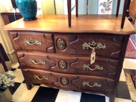 French Style Fruitwood 5 Drawer Chest