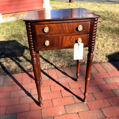 Antique Sheraton Mahogany Two Drawer Stand/Work Table