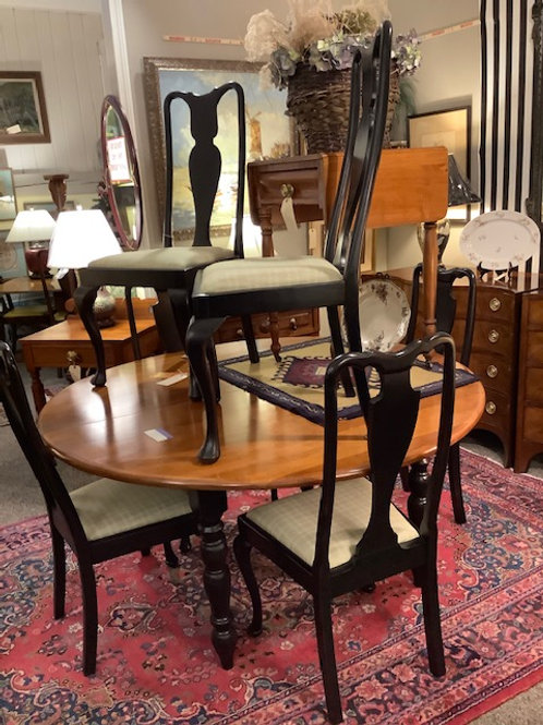 Solid Cherry Dining Table & Chairs Group Picture