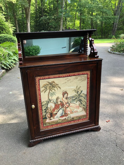 19th Century Rosewood Cabinet with Needlepoint Panel