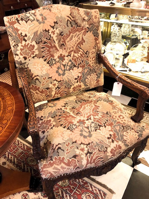 English Style Tapestry Upholstered Arm Chair