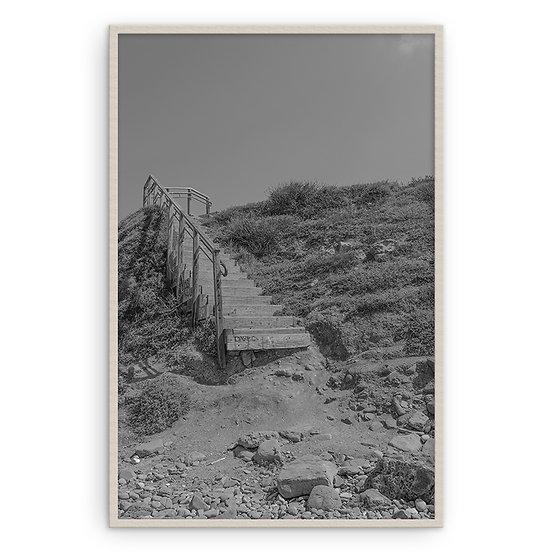 Escada na praia