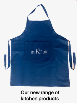 apron with text