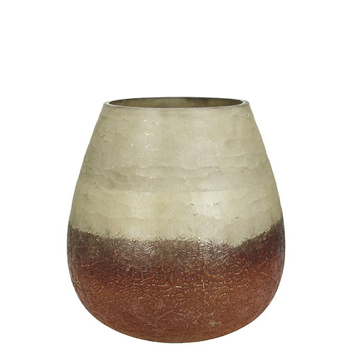 Candle holder glass terra 21X21X21cm