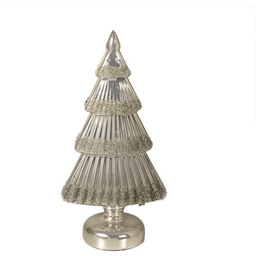 Glass table tree enamel champagne 25cm