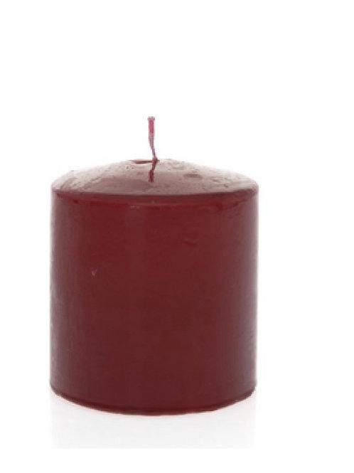 Candle bourdeaux  9X10cm