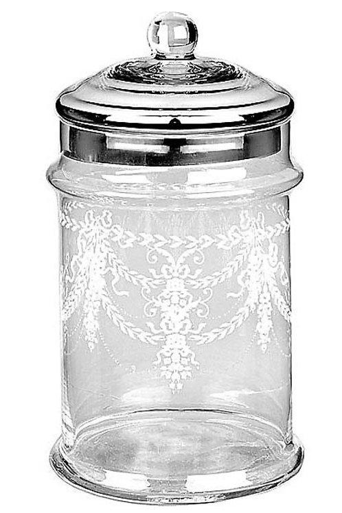 Glass ware silver lid 13x26cm