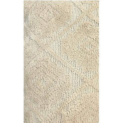 Cricular knitted throw beige 130x170cm