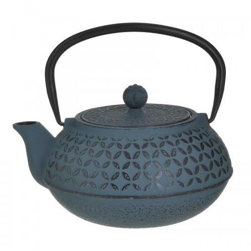 METAL TEA KETTLE BLUE/BLACK 1LT 15Χ10Χ18