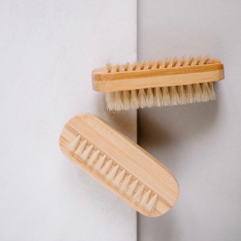 NAIL BRUSH natural bamboo bristles and wooden handle