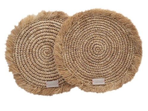 Jakarta. Natural set of two placemats