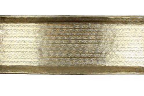Gold metal tray 56X16cm