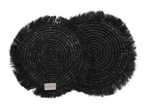 Jakarta - place mat black set 2