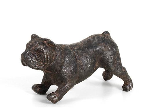 Iron bulldog table decor, brown 17,5 cm