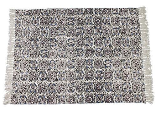 Carpet cotton blue 120x180cm