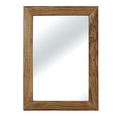 Wall mirror, recycled wood frame 50X70cm