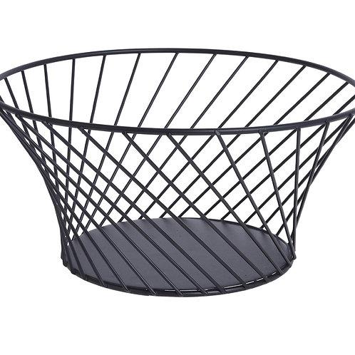 Fruit basket metal black