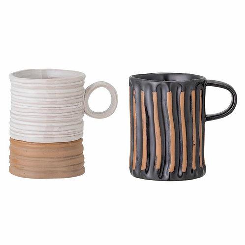 Ayla Mug, Black, Stoneware