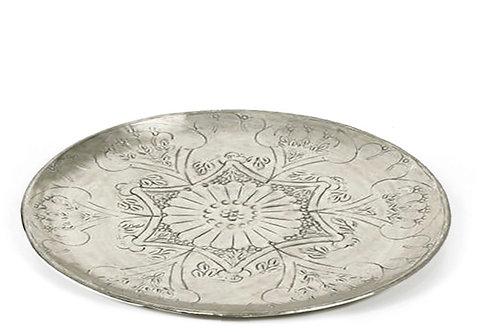 Plate etnic aluminium dark silver 38X2.5cm