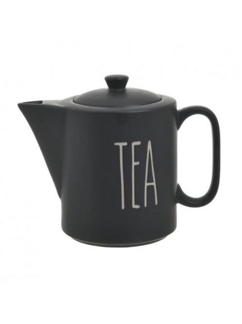 PORCELAIN TEA KETTLE BLACK 1150CC 12X20X17