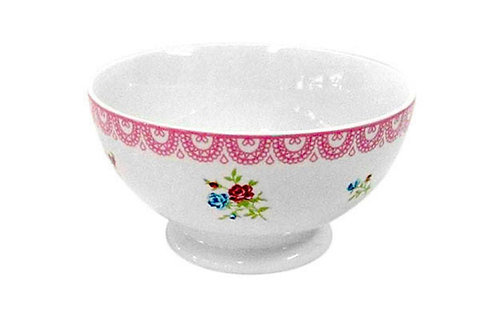 Porcelain floral bowl 14 x 7 cm