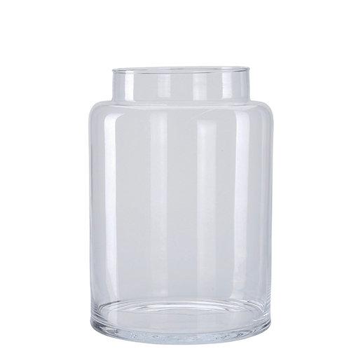 Vase glass  6,5LT, jar shape 19X26.5cm