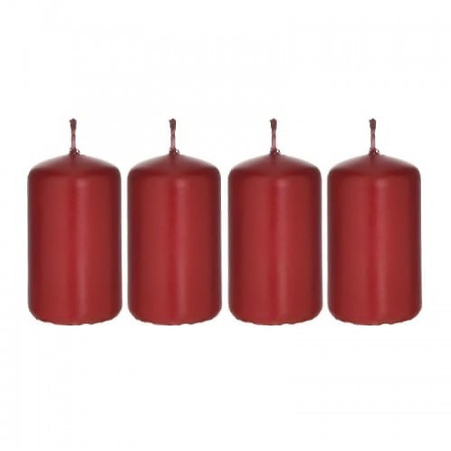 S/4 PARAFFIN CANDLE RED 4Χ7