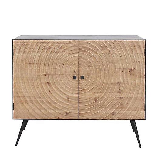 "Cabinet iron w/wooden doors ""SPIRAL"" 100X82x40CM"