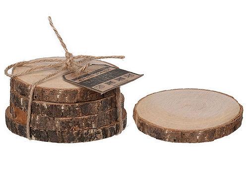 Coaster set4 wood