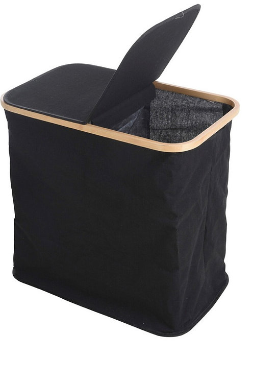 Laundry bag with bamboo ring