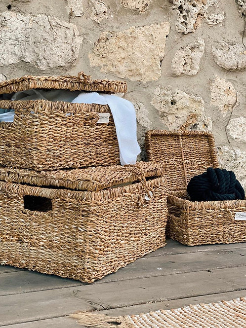 Piqniq - Storage basket with lid medium