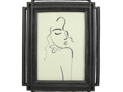 Black photo frame 13 x 18 cm
