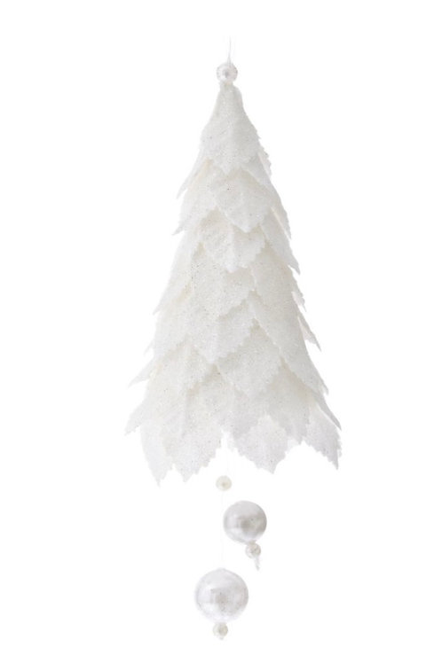 Xmas white hanging tree 19cm