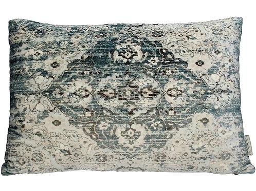 Cushion vintage velvet blue 40x60cm