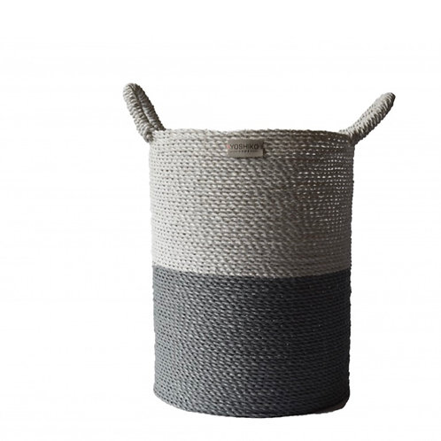 Bandung – Storage basket White / Grey L