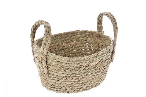 Seagrass deep basket 21X15X13 cm