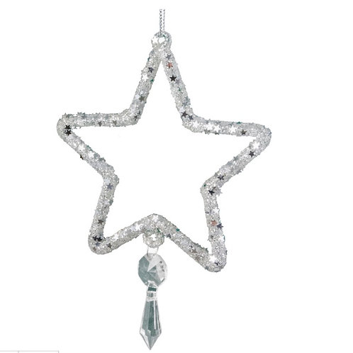 Glass decorative star 12cm
