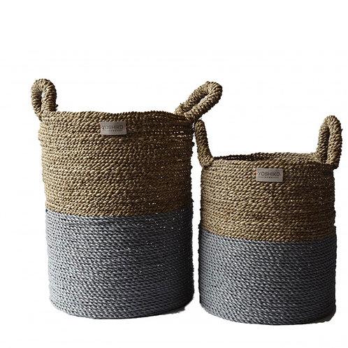 Bandung – Storage basket Naturel/grey M