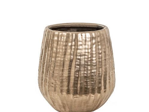 Ceramic vase satin gold 15,5X16,5cm
