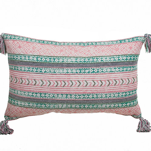 Cotton cushion w/tassels 40X60cm