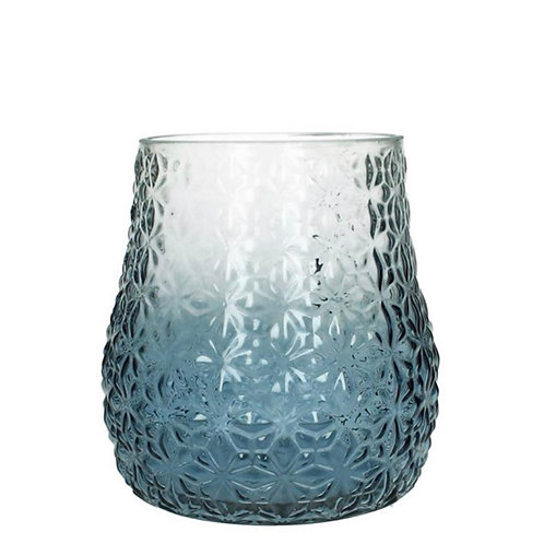 Vase glass blue 18X18X18cm