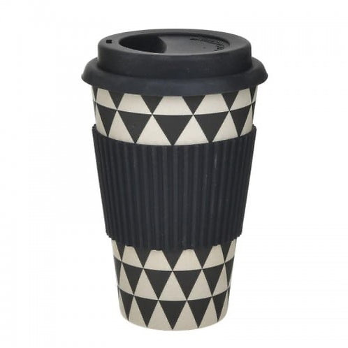 BAMBOO CUP W/LID BLACK Φ6X14