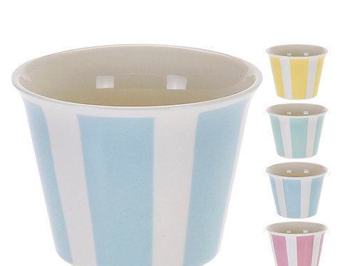 Ice cream bowl new bone 9 x 7 cm, stripe design set 4