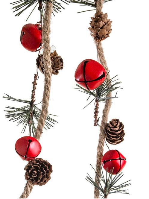 Garland w/red berry & pines 152cm