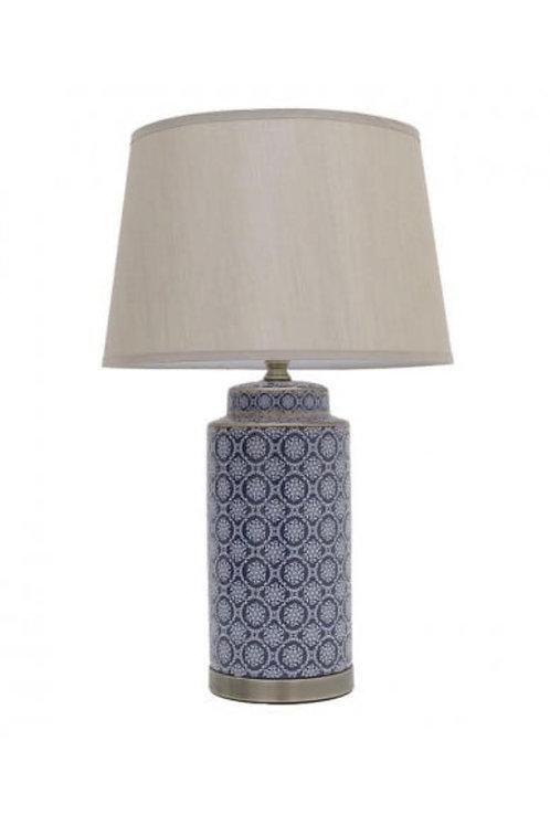 CERAMIC TABLE LUMINAIRE BLUE D40X70