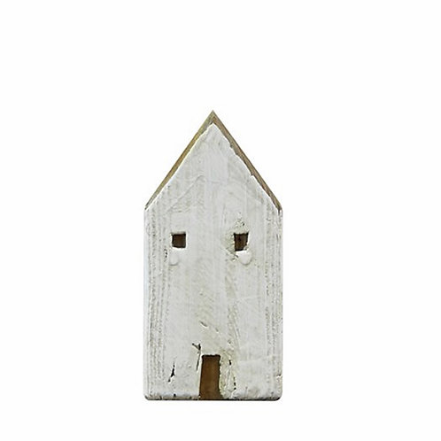 "Table deco ""white house"" from recycled wood 8X16cm"