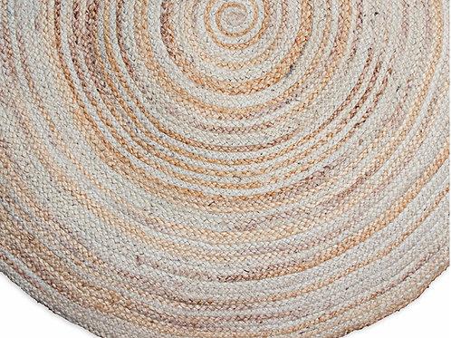 Round jute mat, natural 120cm