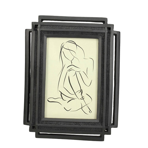 Photo frame polyresin black 10X15cm